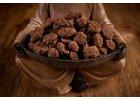 Datle v 72% hořké čokoládě a skořici