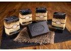 Aromaterapeutická šungitová mýdla s bambuckým máslem