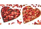 Čokoládová srdce polévaná a zdobená