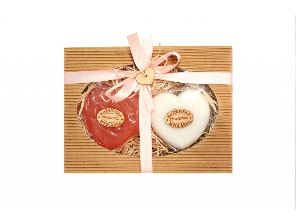 Valentýnské balení - Mýdlová srdíčka (Růže + Princess)