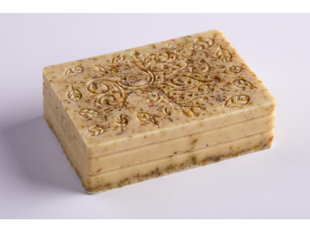 Mýdlo s kozím mlékem, bambuckým máslem a koloidním stříbrem - ROZMARÝN