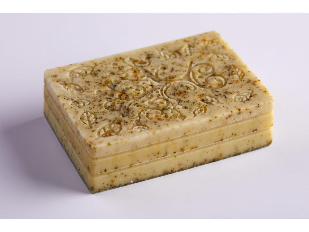 Mýdlo s kozím mlékem, bambuckým máslem a koloidním stříbrem - MÁTA