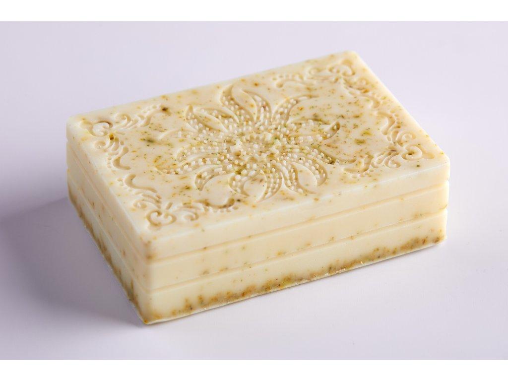 Mýdlo s kozím mlékem, bambuckým máslem a koloidním stříbrem - HEŘMÁNEK