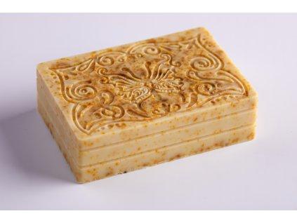 Mýdlo s kozím mlékem, bambuckým máslem a koloidním stříbrem - MĚSÍČEK LÉKAŘSKÝ
