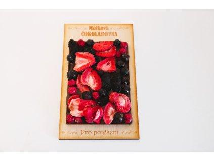 Mléčná 34% čokoláda se směsí ovoce - malá