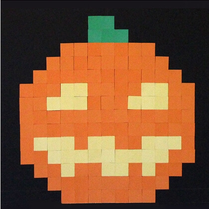 Pixel art dýně - Halloween