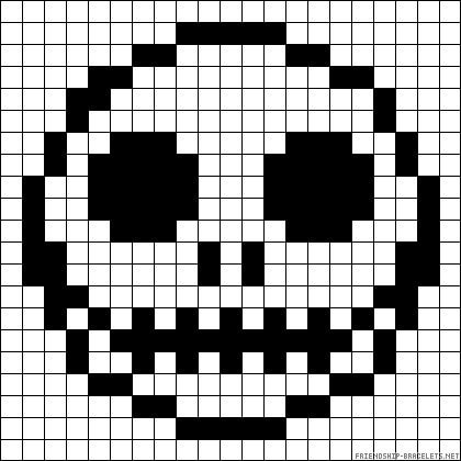 Pixel art lebka - Halloween
