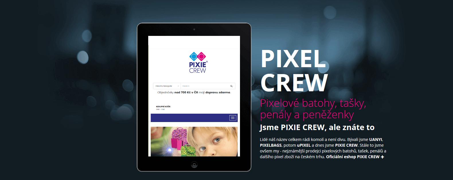 PIXEL CREW má svůj web, ačkoliv jde jen o zkomoleninu PIXIE CREW