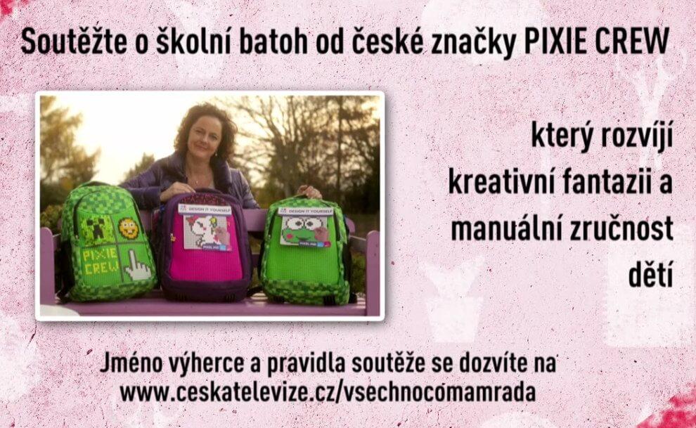 Soutěž o školní batoh PIXIE CREW v České televizi