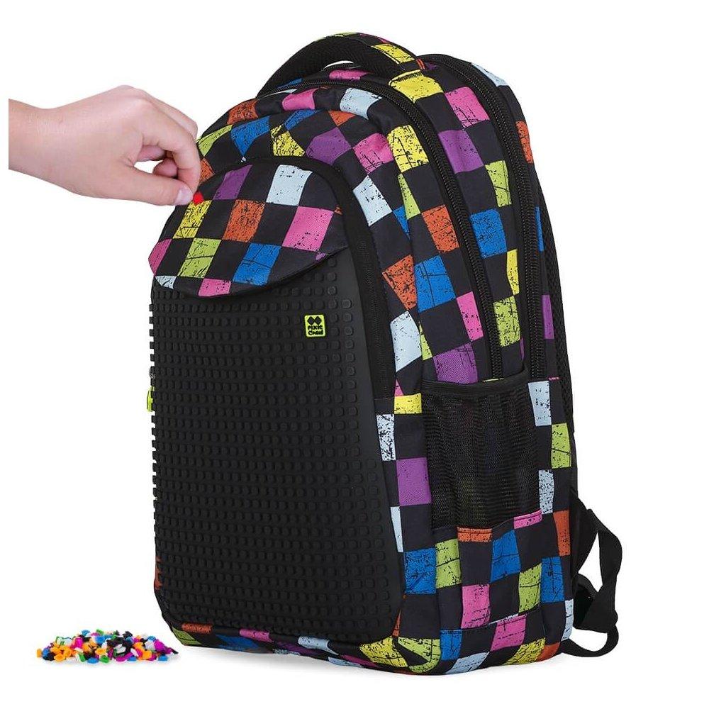 PIXIE CREW studentský batoh BAREVNÉ KOSTKY