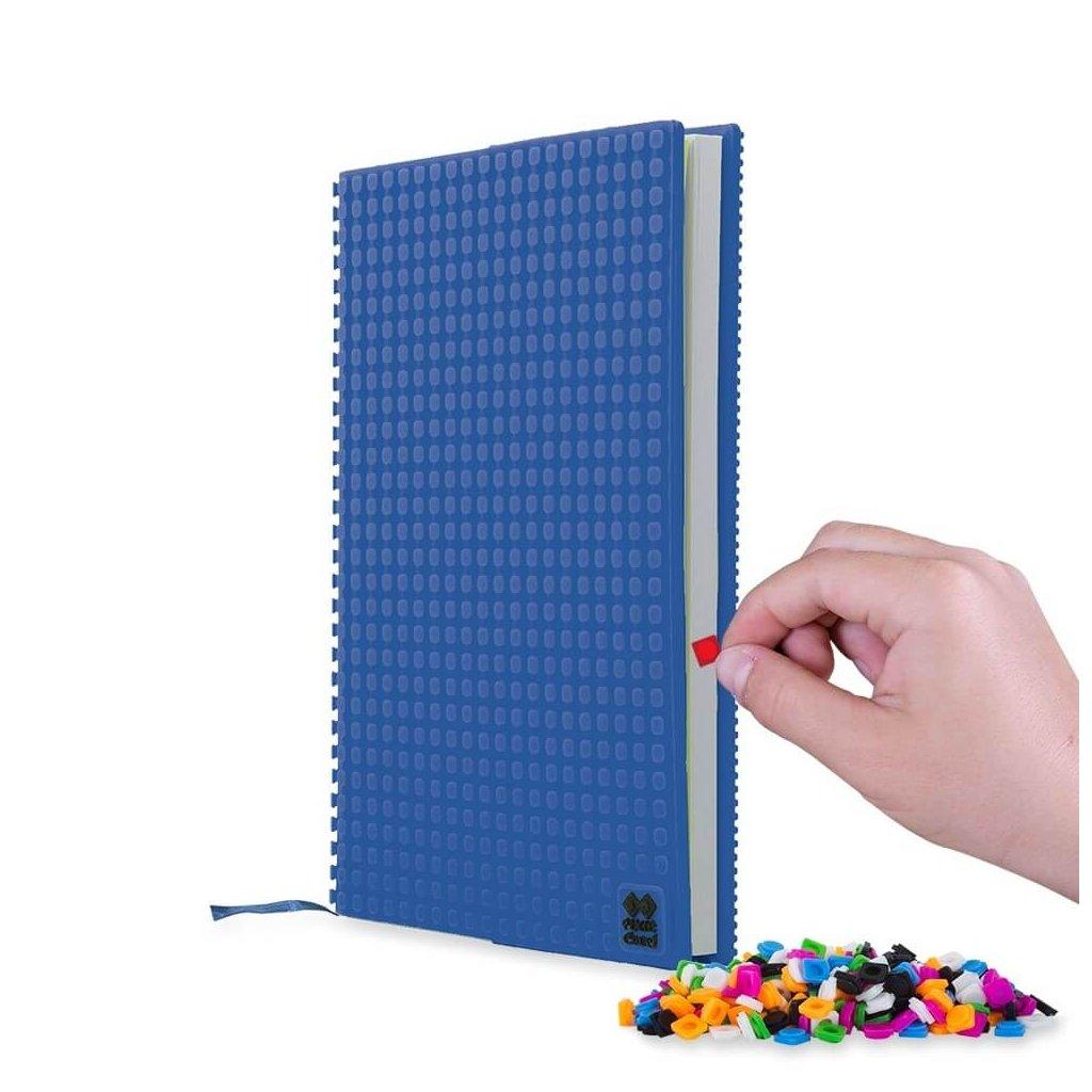PIXIE CREW pixelový deník formátu A5 modrý