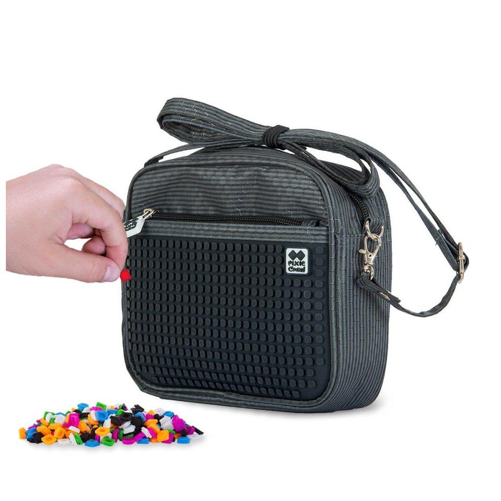 PIXIE CREW kabelka přes rameno TMAVĚ ŠEDÁ