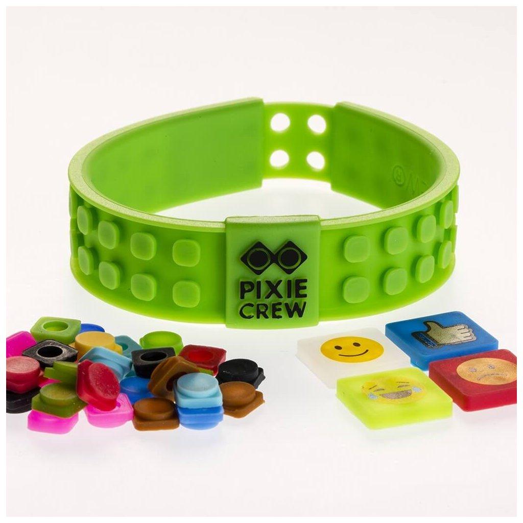 PIXIE CREW Emoji kreativní zelený náramek