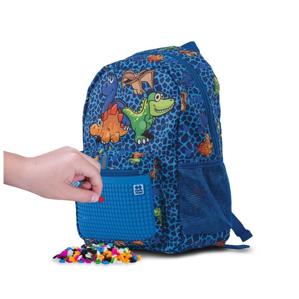 PIXIE CREW dětský batoh DINO MODRÝ