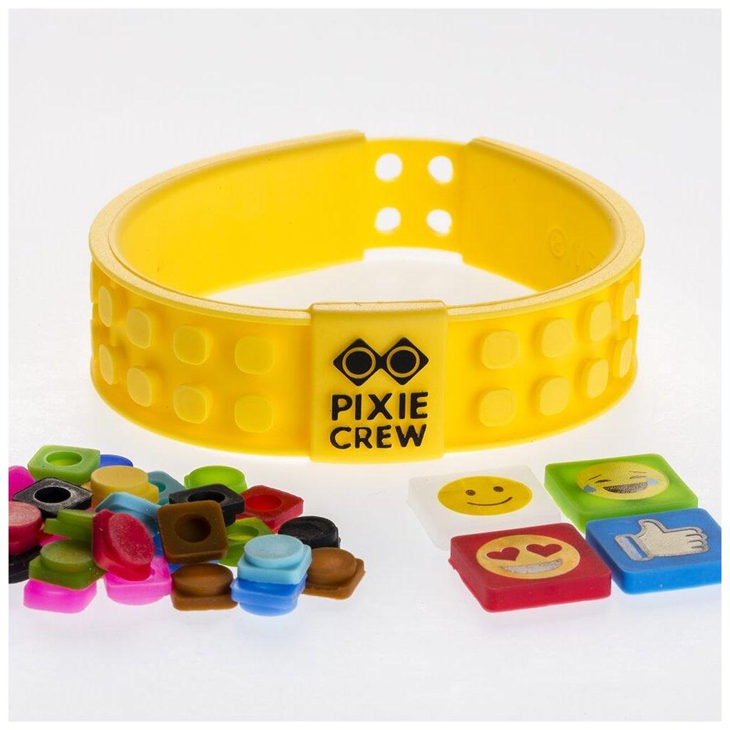 Kreativní emoji náramek žlutý