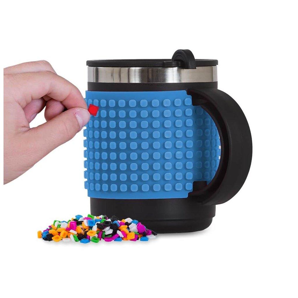 PIXIE CREW Pixelový termo hrnek modrý