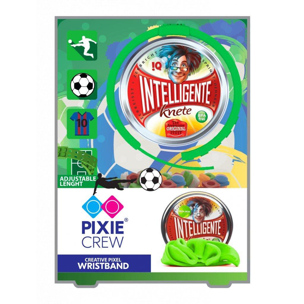 Fotbalový náramek s pixely a inteligentní plastelína jako dárek