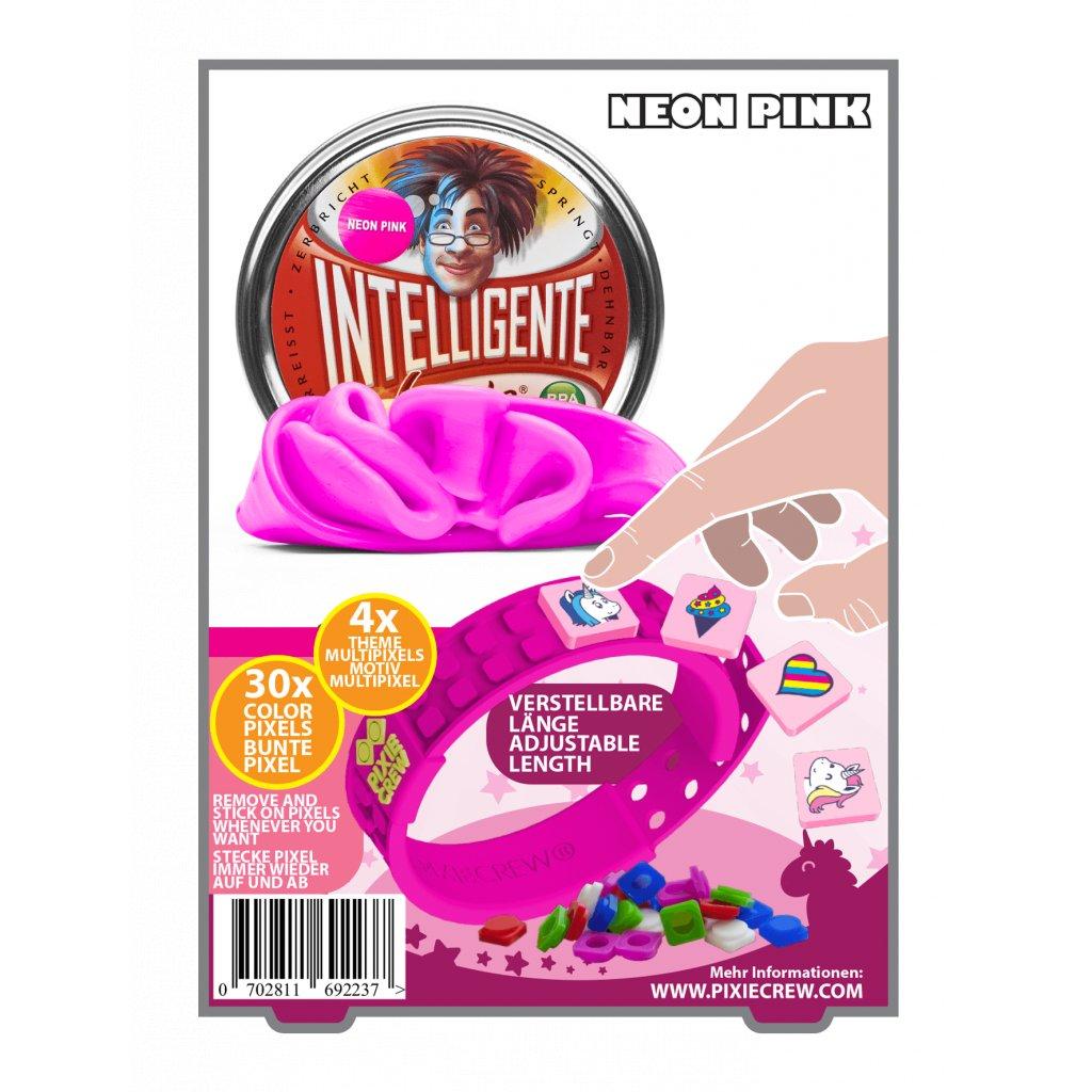 PIXIE CREW Růžový náramek s motivy kozoroha + Inteligentní plastelína jako dárek