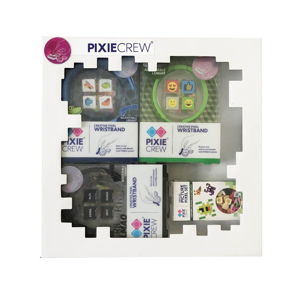 PIXIE CREW Dárková sada Náramky pro kluky (3 x náramek a 3 x přívěšek)