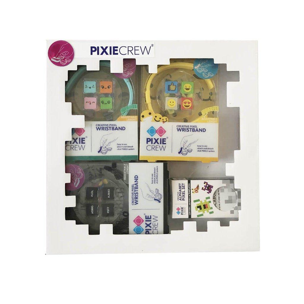 PIXIE CREW Dárková sada Náramky pro holky (3 x náramek a 3 x přívěšek)