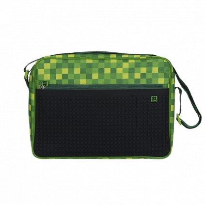 Pixel taška přes rameno zeleno černá