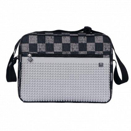 Pixel taška přes rameno šedá kostka
