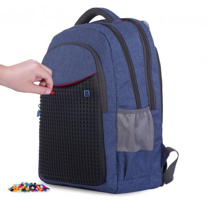 PIXIE CREW studentský batoh TMAVĚ MODRÝ