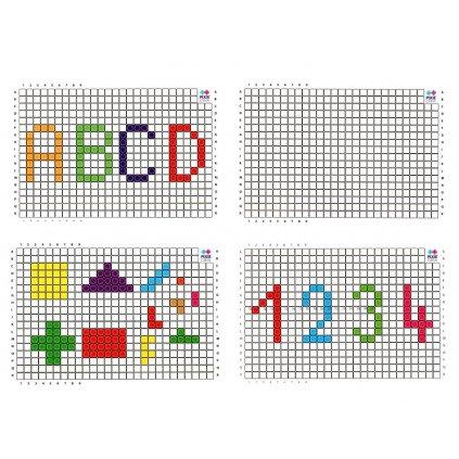 A4 pixelový edupanel fuchsiový