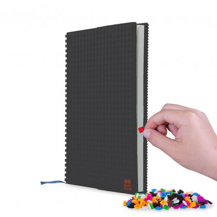 PIXIE CREW Pixelový deník A5 černý