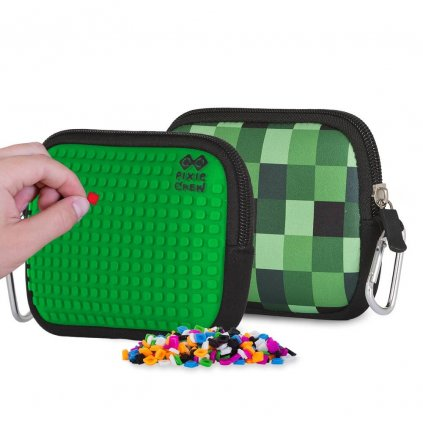 PIXIE CREW Minecraft pixelové pouzdro zelené