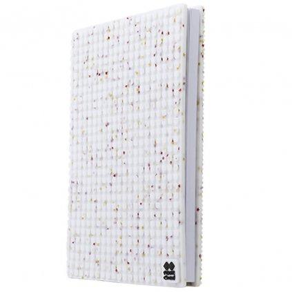 PIXIE CREW Pixelový diář / zápisník s obalem A5 BÍLÝ S GLITRY