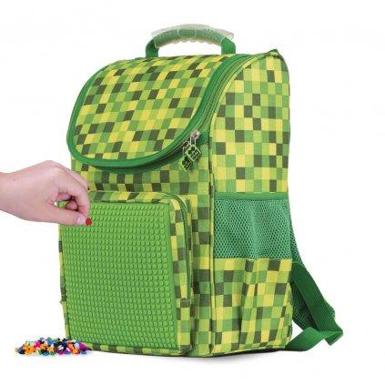 PIXIE CREW Chlapecký pixelový školní batoh Minecraft pro prvňáčky / školní aktovka pro první stupeň ZŠ