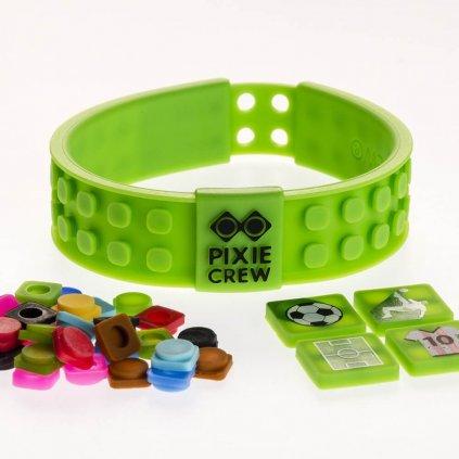 Kreativní fotbalový náramek zelený