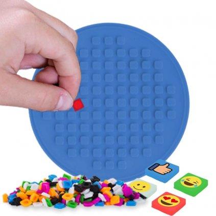 Mozaikový panel modrý kruh