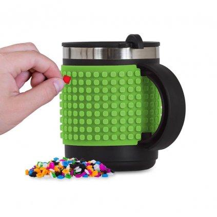 PIXIE CREW Pixelový termohrnek zelený