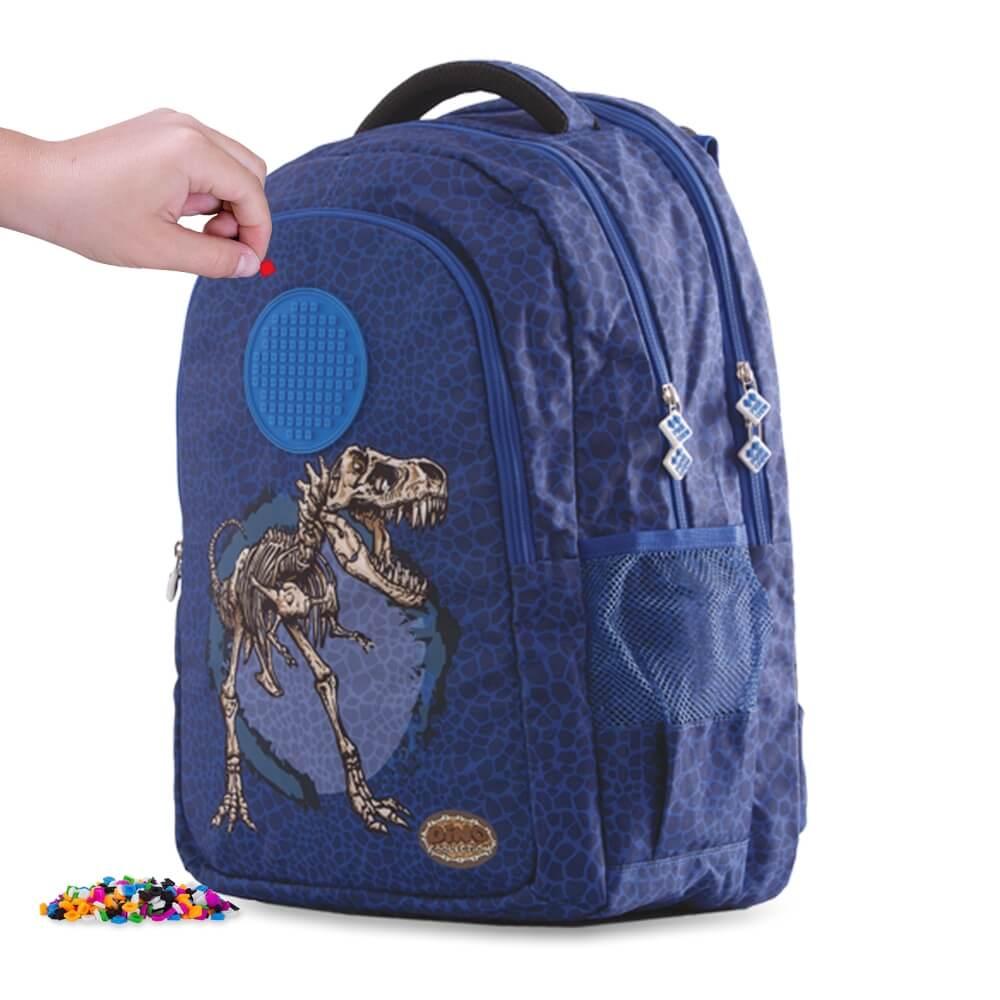 PIXIE CREW studentský batoh DINO MODRÝ