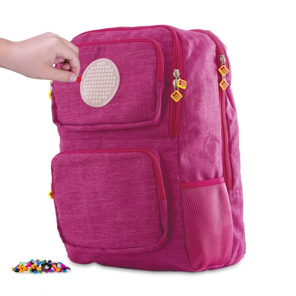 PIXIE CREW studentský batoh RŮŽOVÝ