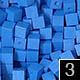 dřevěné pixely barva 3