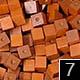 dřevěné pixely barva 7