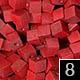 dřevěné pixely barva 8