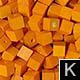 dřevěné pixely barva K