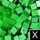 dřevěné pixely barva X