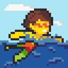 PIXUPIX_32x32_pixelart_plavec-swimmer