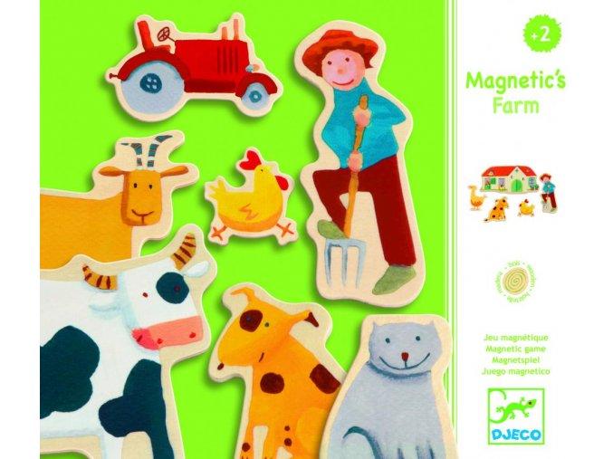 Djeco Drevené magnetky Farma