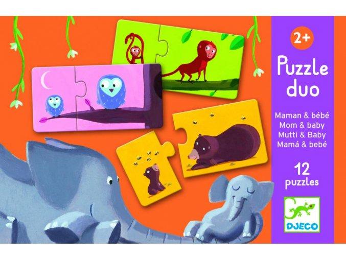 Djeco Puzzle duo Mama a bábätko