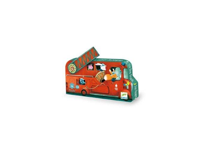 Djeco Puzzle Požiarnické auto