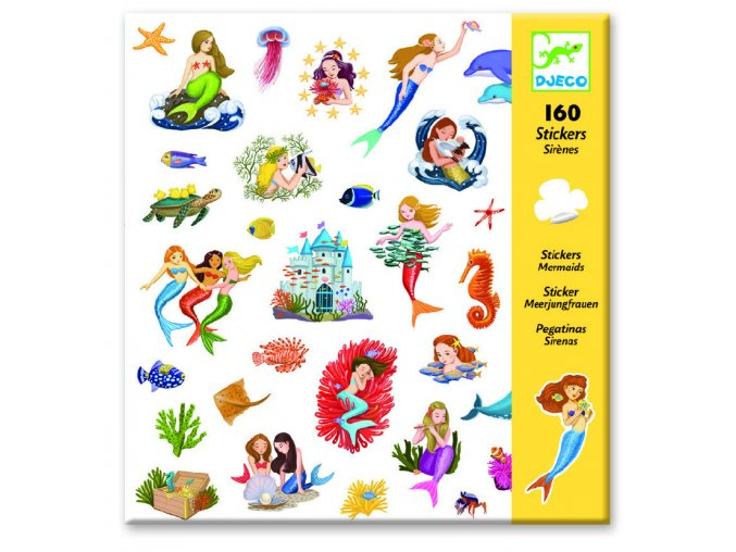 Djeco Samolepky Morské víly (160 ks)