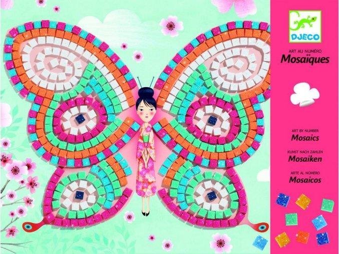 Penová mozaika - Motýle