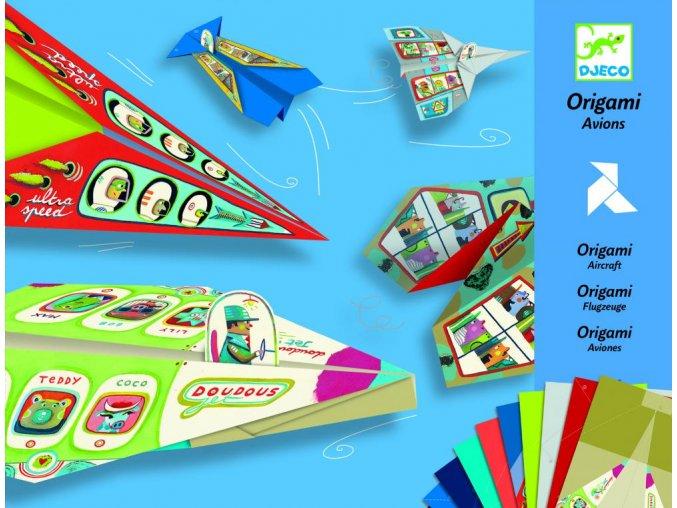 Djeco Tvorivá sada Origami lietadlá (pre chlapcov)