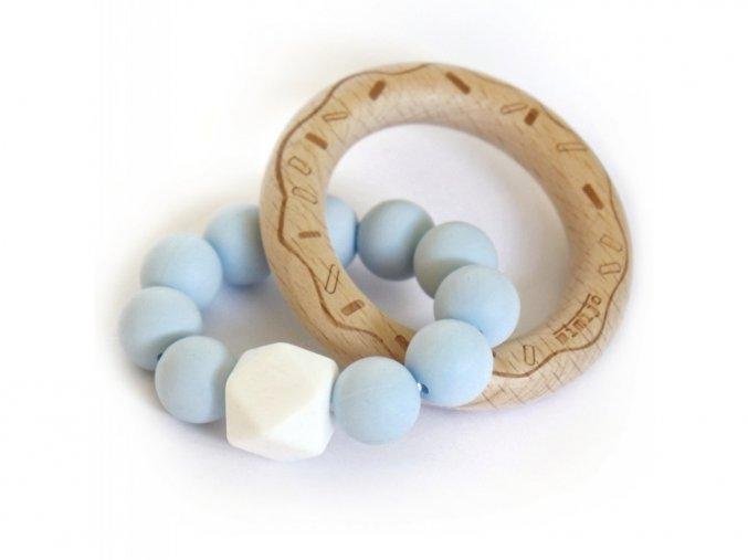 Bledomodrý donut  Silikónové hryzátko